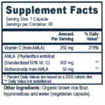 Vitamin C from Amla - Supplement Facts